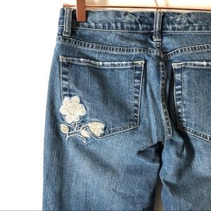 Embroidered White House Black Market Jeans